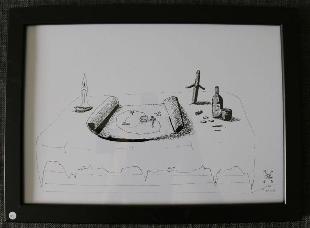Carte et bougie : 25 € (A4)